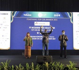 PT Modernland Realty Tbk. Raih Penghargaan TOP CSR Awards 2021