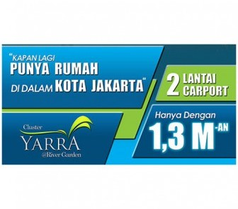 Cluster Terbaru di Jakarta Garden City : CLUSTER YARRA