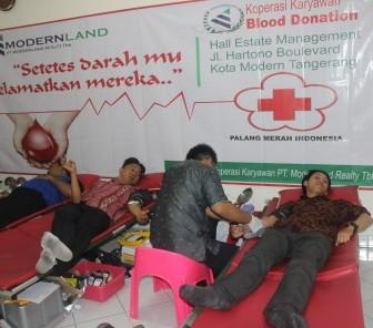 Modernland Mengenalkan Gaya Hidup Sehat Melalui Donor Darah